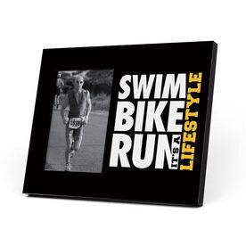 Triathlon Photo Frame - Swim Bike Run It's a Lifestyle