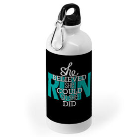 Running 20 oz. Stainless Steel Water Bottle - She Believed She Could