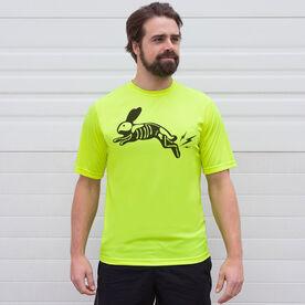 Men's Running Short Sleeve Tech Tee - Lightning Rabbit