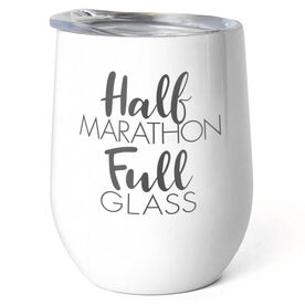 Running Stainless Wine Tumbler - Half Marathon Full Glass