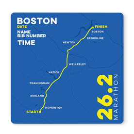 """Running 12"""" X 12"""" Removable Wall Tile - Personalized Boston Map"""