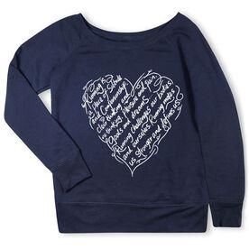 Running Fleece Wide Neck Sweatshirt - Makes Us Stronger
