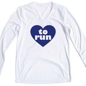 Women's Running Long Sleeve Tech Tee Heart To Run