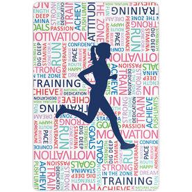 "Running 18"" X 12"" Aluminum Room Sign - Inspirational Words Female"