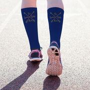 Triathlon Printed Mid-Calf Socks - Tri Crossed Arrows