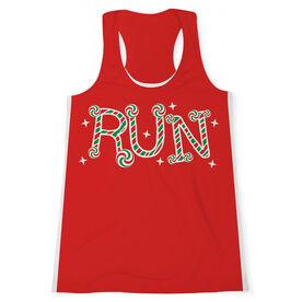 Women's Performance Tank Top - Candy Cane Run