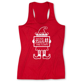 Women's Performance Tank Top - Moms Run This Town Elf