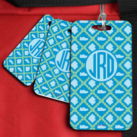 Running Bag/Luggage Tag Monogrammed Blue Shoe