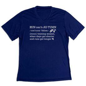 Women's Short Sleeve Tech Tee - Runner's Autumn Definition