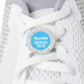 Running Rhinestone Shoe Charm - Sparkle Wherever You Go