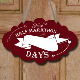 Dry Erase Countdown To My Next Half Marathon Decorative Cloud Sign