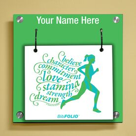 Personalized Believe Running Girl Wall BibFOLIO® Display