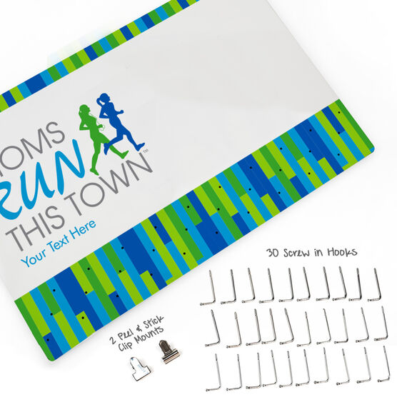 MRTT Large Hooked on Medals and Bib Hanger - Moms Run This Town