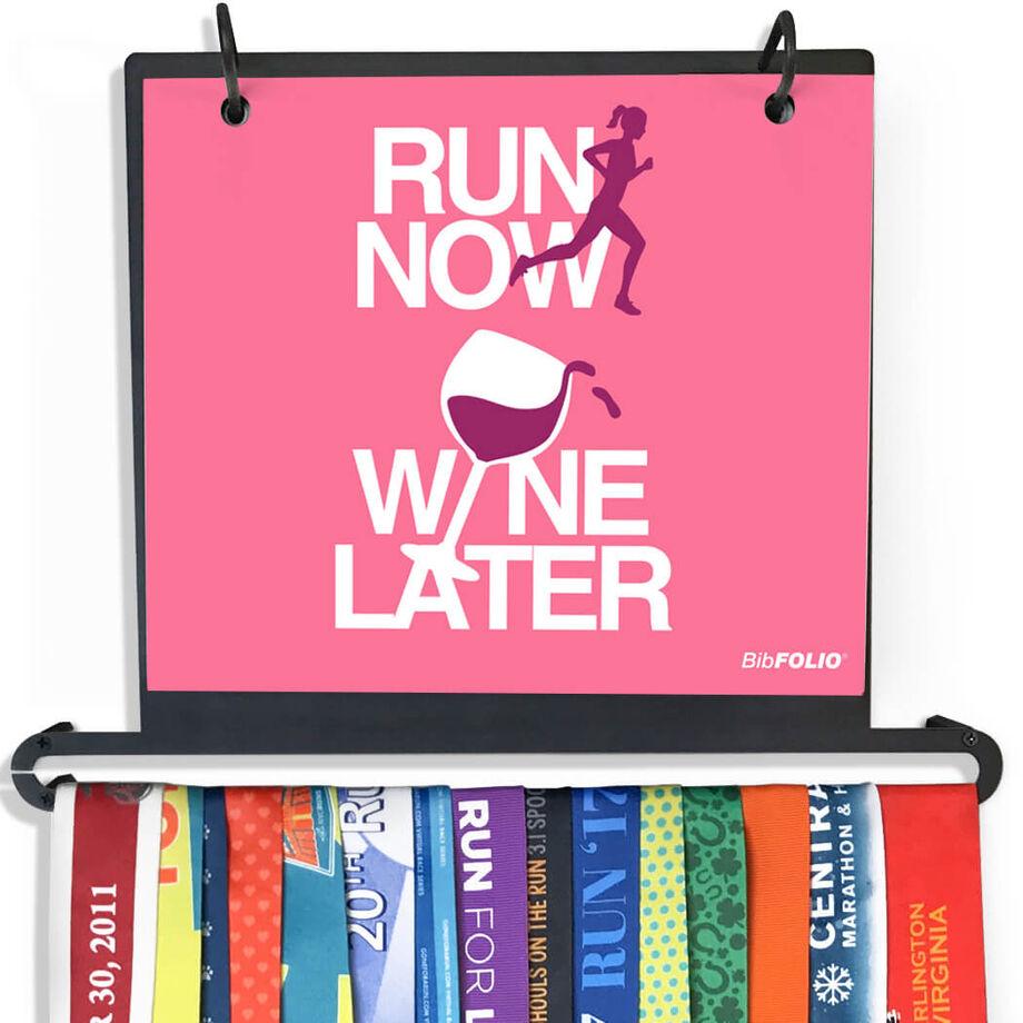BibFOLIO+™ Race Bib and Medal Display Run Now Wine Later