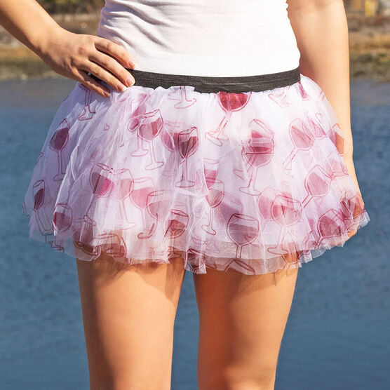 Runner's Printed Tutu Run For Wine