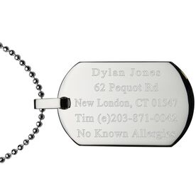 Dog Tag Necklace IDmeBAND - Stainless Steel