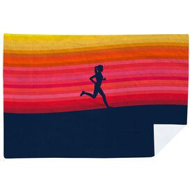Running Premium Blanket - Sunset Runner