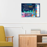 """Running 12.5"""" X 4"""" Removable Wall Tile - Weekly Miles Dry-Erase (Vertical)"""