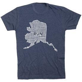 Running Short Sleeve T-Shirt - Alaska State Runner