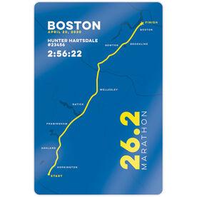 """Running 18"""" X 12"""" Aluminum Room Sign - Boston 26.2 Route"""