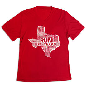 Women's Short Sleeve Tech Tee - Texas State Runner