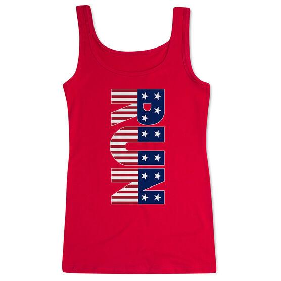 Running Women's Athletic Tank Top - Patriotic Run