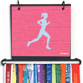 BibFOLIO+™ Race Bib and Medal Display Running Inspiration - Female