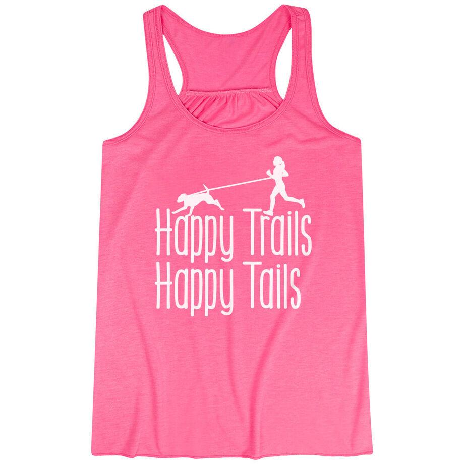 Flowy Racerback Tank Top - Happy Trails Happy Tails