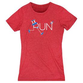 Running Women's Everyday Tee - Let's Run for America