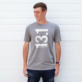 Running Short Sleeve T-Shirt - 13.1 Half Marathon Vertical