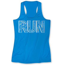 Women's Performance Tank Top Run With Inspiration