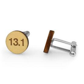 Running Engraved Wood Cufflinks 13.1