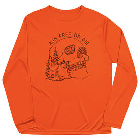 Men's Running Long Sleeve Tech Tee - Run Or Die Skull