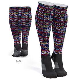 Running Printed Knee-High Socks - NYC Burroughs 26.2