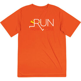 Short Sleeve Performance Tee - Let's Run Now Gobble Later