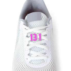 13.1 Half Marathon (Pink) - LaceBLING Shoe Lace Charm
