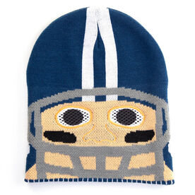 Happy Hatter Football Player Beanie Hat & Mask