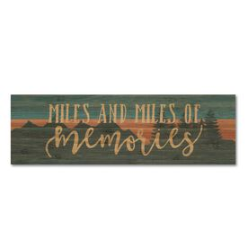 """Running 12.5"""" X 4"""" Printed Bamboo Removable Wall Tile - Miles and Miles of Memories"""