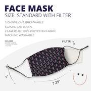 Running Face Mask - Girl Stick Figure Pattern
