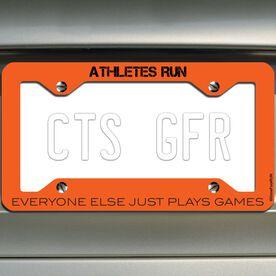 Athletes Run License Plate Holder