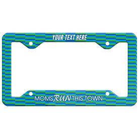 Running License Plate Holder - Moms Run This Town Block Pattern
