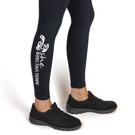 Running Leggings - She Runs This Town