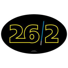 Galaxy 26.2 Oval Car Magnet