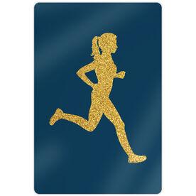 """Running 18"""" X 12"""" Aluminum Room Sign - Runner Girl Faux Glitter"""