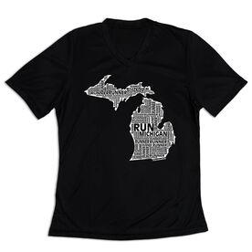 Women's Short Sleeve Tech Tee - Michigan State Runner