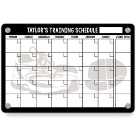 Running Metal Wall Art Panel - Personalized Dry Erase Training Calendar