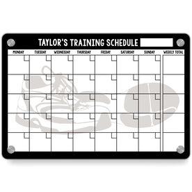 Running Metal Wall Art Panel - Personalized Dry Erase Training Calendar