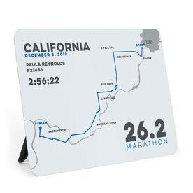 Running Desk Art - California 26.2 Route