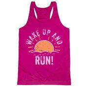 Women's Racerback Performance Tank Top - Wake Up And Run