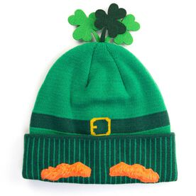 Happy Hatter Leprechaun Knit Beanie Hat